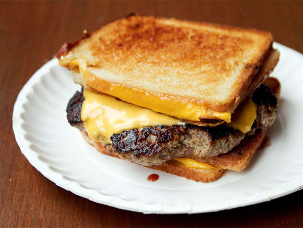toasted burger and cheese